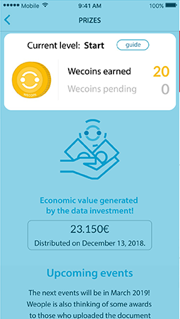 Current wecoins number